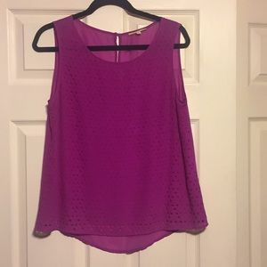Gianni Bini Fuschia Laser-cut detail Blouse